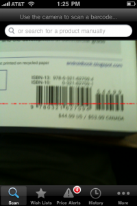 You'll need a steady hand, good lighting, and a phone with macro lens to get a good barcode scan with ShopSavvy.